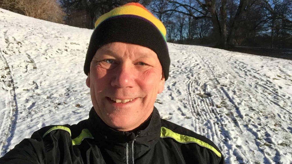 Bosse Rosén guidar till vinterlöpning.